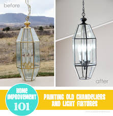 home improvement painting old chandeliers and light fixtures
