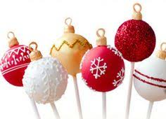 ornament cake pops happy holidays