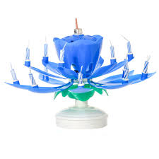 spinning birthday candle blue musical flower birthday candles lotus flower spinning candles