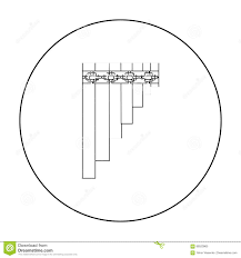 mexican pan flute icon in outline style isolated on white