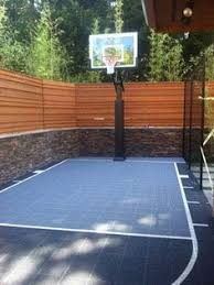 Basketball Court In The Backyard Perfect For Entertaining Or Relaxing This Spacious Backyard