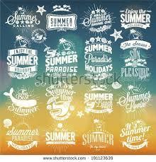 retro elements summer calligraphic stock vector