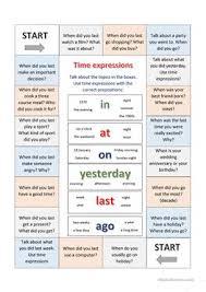 28 free esl time expressions worksheets