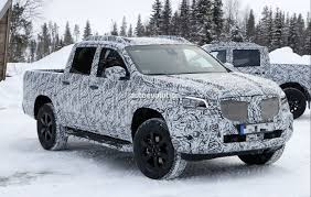 2018 mercedes x class truck prototype shows production lights has