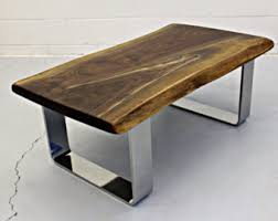 Chrome Table Legs by Walnut Coffee Table Etsy