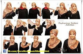 Tutorial Hijab Turban Ala April Jasmine | tutorial hijab pashmina ala april jasmine cara memakai jilbab