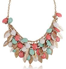 multi coloured necklace images Shining diva fashion multicolor metal choker stylish necklace for jpg