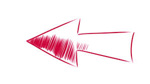 arrow whiteboard stop motion style animation red arrow on a white