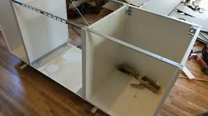 building a kitchen island with ikea cabinets easy how to install an ikea island version