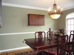 modern house interior dining room with chair rail mcclain painting