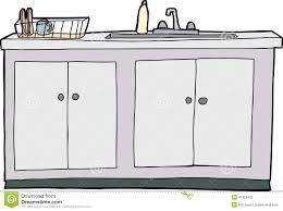 dessin evier cuisine évier de cuisine d isolement illustration de vecteur illustration