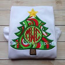 christmas applique circle christmas tree