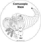 thanksgiving shape book maze enchantedlearning
