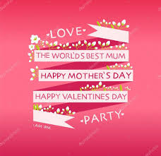 happy valentines day mother u0027s day cards u2014 stock vector