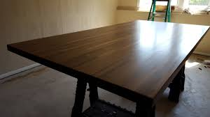 built my own walnut dining room table because
