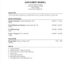 Resume For Military Resume Examples Usmc Resume Ixiplay Free Resume Samples