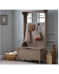 Entryway Bench With Coat Rack And Storage Sweet Deal On Gray Entryway Hall Tree Storage Bench Driftwood