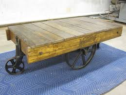 nutting antique factory cart coffee table faribault minn no