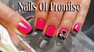 easy nail art tutorial hearts desire nails of promise youtube