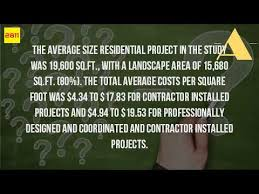 Average Cost Of Landscaping by How Much Does Landscaping Cost Per Square Foot Youtube