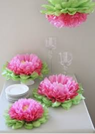 decorations set of 7 pink tissue paper