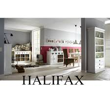 open bookshelf room divider in distressed white finish halifax