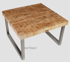 stainless steel butcher block table john boos bakers table with
