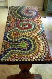 diy table makeover from bottle caps diycraft find more on http