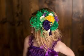 mardi gras headbands shabby chic mardi gras feather headband new orleans mardi