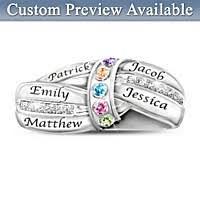 day rings personalized 55 unique mothers day rings bradford exchange
