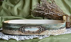 Vintage Chic Home Decor Vintage Serving Tray Shabby Chic Home Decor Handmade By Adisa