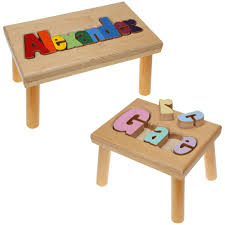 personalized name personalized name puzzle stool maple creative kidstuff