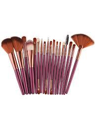18pcs makeup brushes kit in brownish purple sammydress com