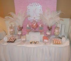 Pink And White Candy Buffet by Pink And Gold Candy Buffet Bridal Shower Candy Bars Pinterest