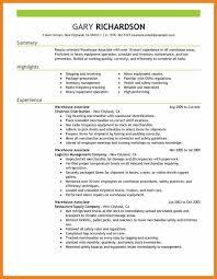 Warehouse Distribution Resume Warehouse Job Resume Lukex Co