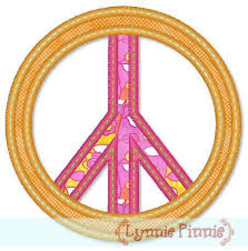 free peace sign applique 4x4 5x7 welcome to lynnie pinnie com