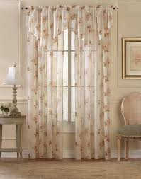 waterlilly scroll floral sheer ascot valance curtainworks com