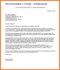 8 college recommendation letter from employer model