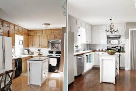 Kitchen Cabinets Painted White Graceful Painted White Kitchen Cabinets Before And After Small