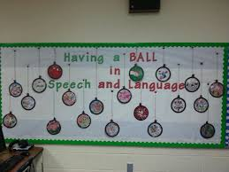 ornament bulletin board speech therapy dabbling with