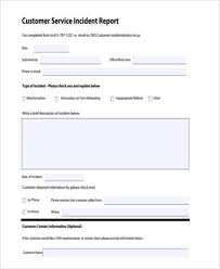 generic incident report template sle service report forms 9 free documents in word pdf