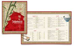 menu publisher template japanese restaurant menu template word publisher