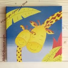 deco chambre enfant jungle tableau de la jungle pour la chambre de bébé maman girafe et