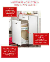 small kitchen storage furniture must haves improvements blog small kitchen storage furniture must haves the hidden trash cabinet