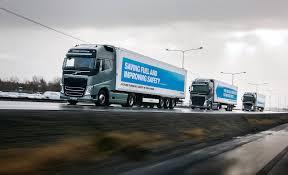 volvo transport volvo trucks on a european tour for platooning platooning uk haulier