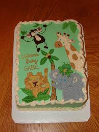baby shower cakes baby shower cakes jungle animals