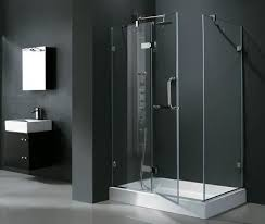 a selection of premium quality shower doors for a modern bathroom