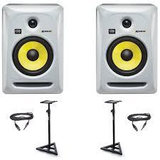 krk home theater krk rokit rp6 g3 uk monitor speaker white bundle