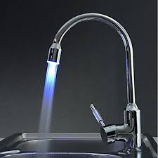 modern faucets kitchen contemporary brass kitchen faucet with color changing led light
