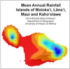 Precipitation Map Of The United States by Weather U0026 Maui Average Rainfall Map Maui Guidebook